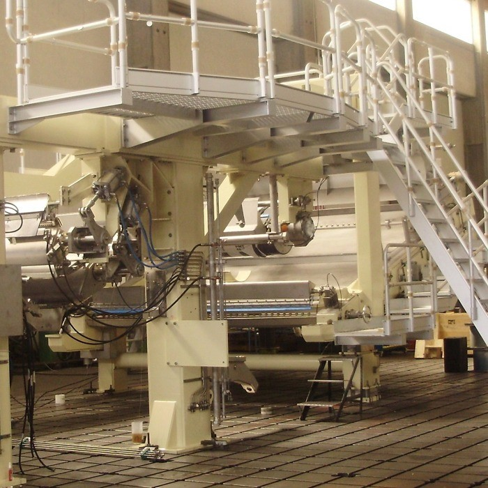 Preassembly of tissue machine
