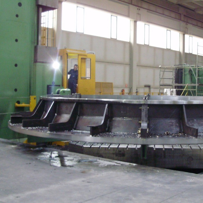 Bottom ring for hydroelectric power plant