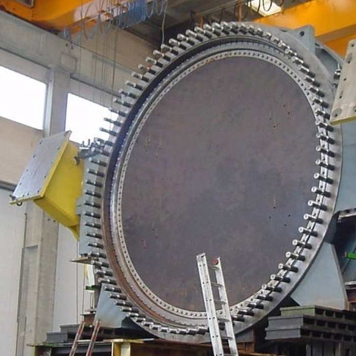 Butterfly valve for hydroelectric power plant