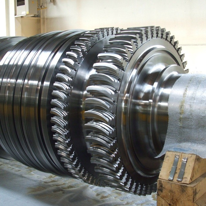 Fir tree slots turbine shaft