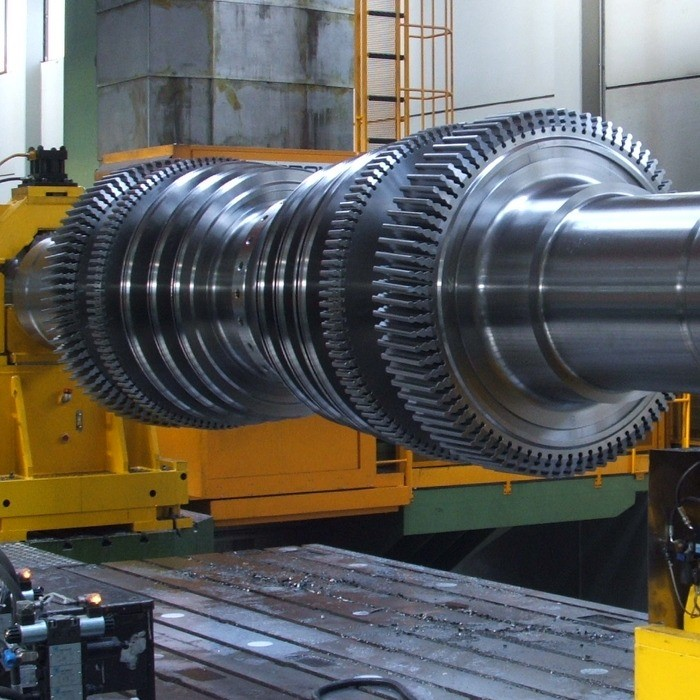 Turbine shaft for thermoelectric power plant